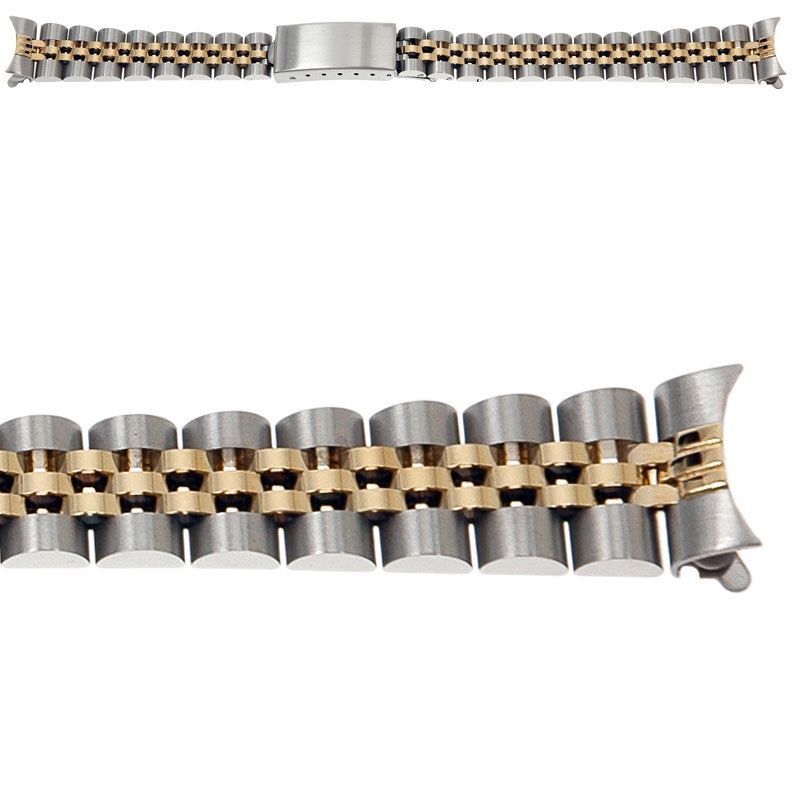 Lady S Rolex 14k Gold Stainless Steel Jubilee Replacement Bracelet Italian Made